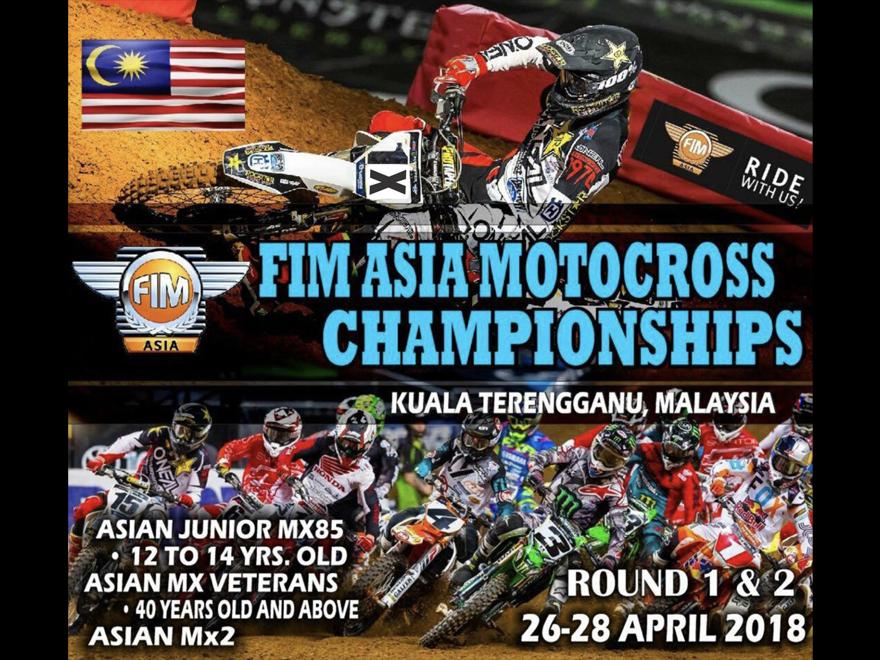 4月26日~28日 FIM アジアモトクロスチャンピオンシップ MALAYSIA  TEAM RED SEED 田中 教世、参戦します。